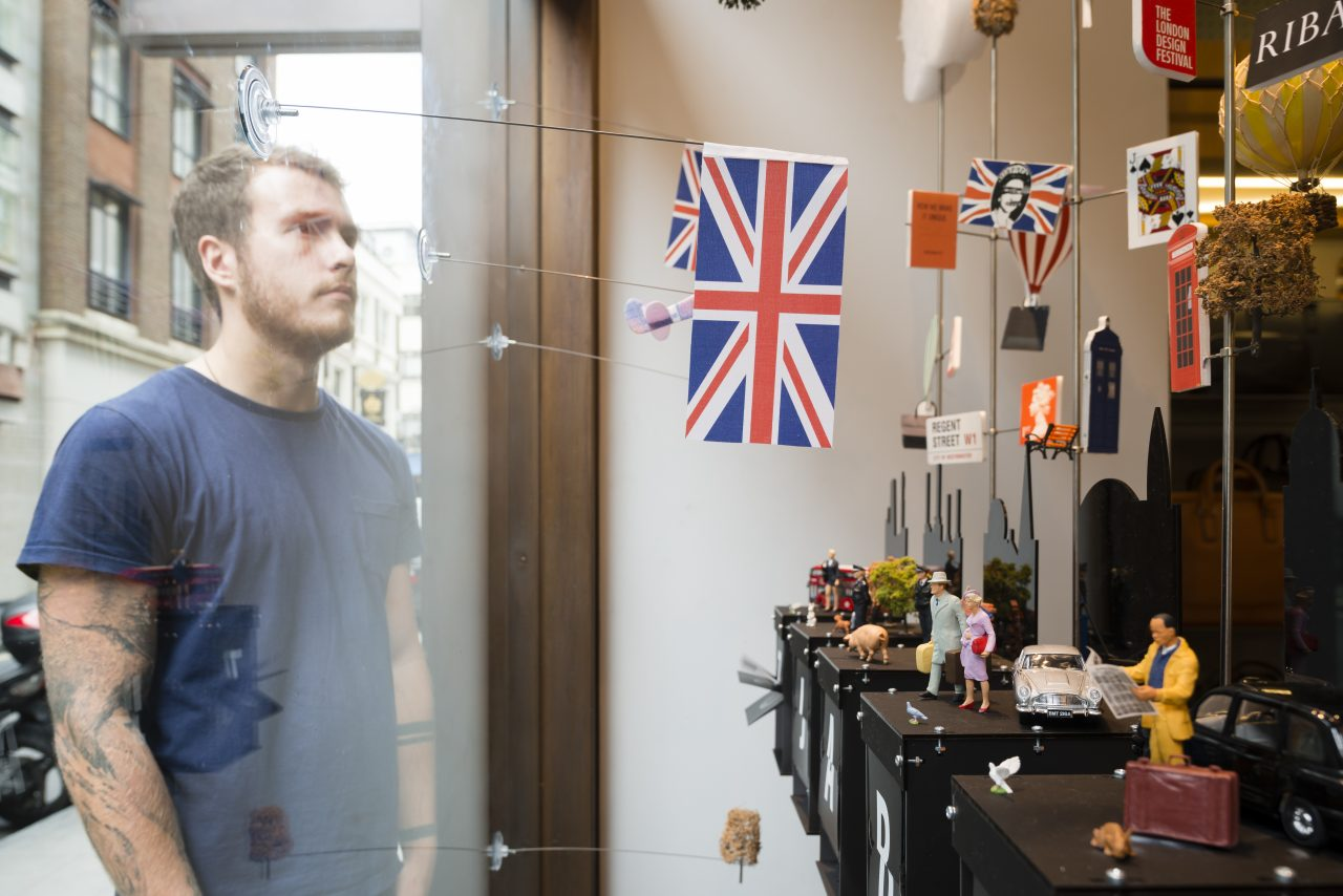 Mobile Studio at Jack Spade. RIBA Regent St Windows Project. Architecture and Interior Photography by Jim Stephenson